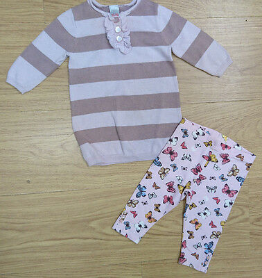 NEXT GIRLS OUTFIT BUNDLE AGE 3-6 MONTHS brown jumper dress tight