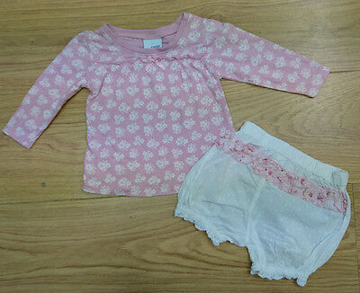 Next Baby Girls Bundle Age 3-6 Months Top Shorts