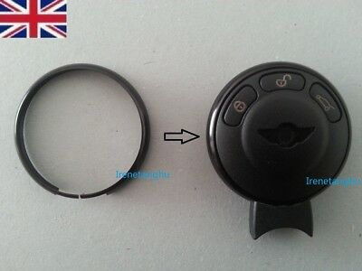 Black MINI Cooper S ONE Countryman Clubman Coupe Roadster Key Fob Ring Trim