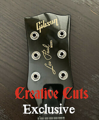 59 Gibson Les Paul Model Headstock Vinyl Decal Inlay set Satin Gold