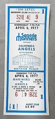 1977 SEATTLE MARINERS Very First Game ticket. mint & unused vs California Angels