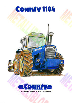 County 1184 Tractor Poster (A3) - (3 for 2 offer)