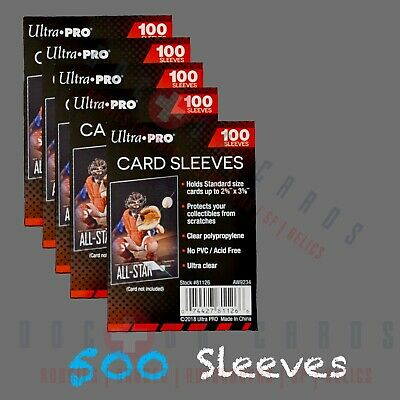 Ultra-PRO Card Sleeves 500 CT PENNY SLEEVES (100 PACK X 5) Free Shipping!