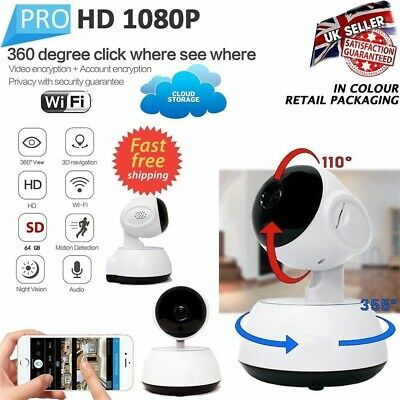 HD Night Vision Wireless WiFi Smart Camera Video Baby Dog Monitor Home Security