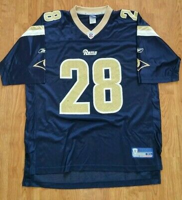 6caea468 MARSHALL FAULK #28 St. Louis Rams Nike Blue Gold Jersey Youth Size ...