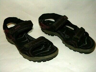 b07335d9aa2a ECCO Women s Size 8-8.5 39 Yucatan Brown Pink Outdoors Hiking Adjustable  Sandals