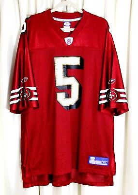 517d512203f JEFF GARCIA  5 SF SAN FRANCISCO 49ERS NFL REEBOK RED MEN S JERSEY Sz XL