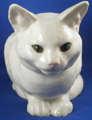 Superb Nymphenburg Porcelain Cat Figurine Figure Porzellan Katze Figur W. Zuegel