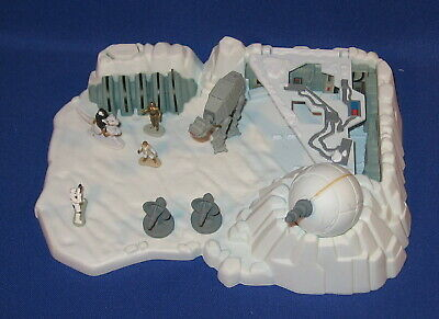 Star Wars Micro Machines Hoth Ice Planet Playset Loose 1994 Vintage Galoob AT-AT