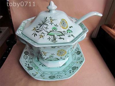 ADAMS CALYX WARE CHINESE GARDEN LARGE SOUP TUREEN, UNDERPLATE & LADLE (RefXXX)