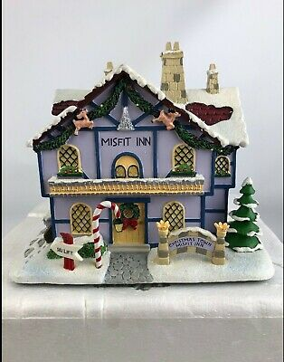 Rudolph Christmas Village.Hawthorne Village Misfit Inn Rudolph Christmas Town Collection New
