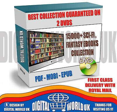 15000+ Sci-fi & Fantasy Ebooks collection, MOBI, PDF and EPUB Format on 2 DVDs