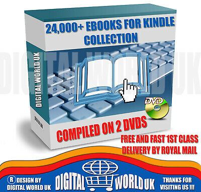 24000+ Classic Ebooks collection -Kindle Format mixed Genres & Authors on 2 DVDs
