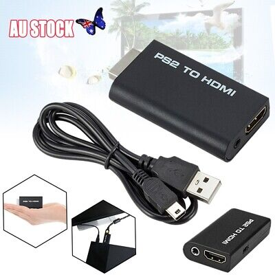 PS2 To HDMI Video Converter Adapter Cable For PS2 HDTV HDMI Monitor Case New