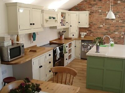 Solid Pine Bespoke Farmhouse Country Kitchen-Painted Pine Colour Sample.