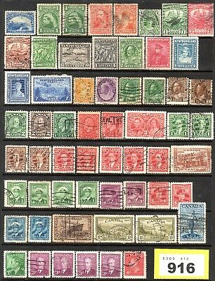 LOT #Y916 - Selection of Newfoundland / Canada Stamps - QV to KGVI