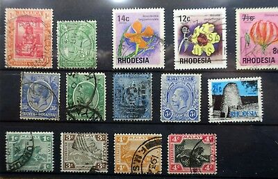 British Commonwealth, card of stamps - lot b902