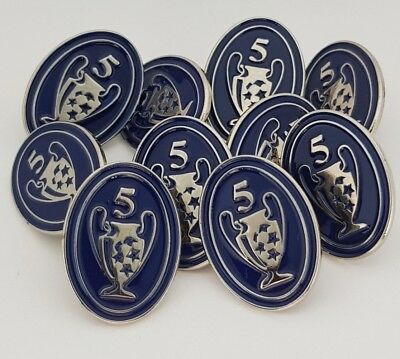 Champions League - Badge of Honour - 5 Times Winners Pin Badge - Liverpool FC