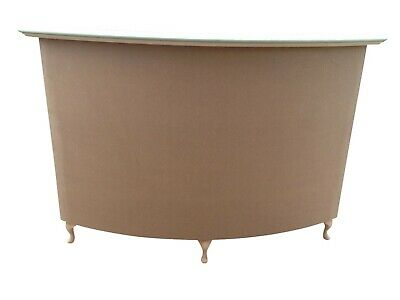 Large Curved Reception Desk, Salon, Retail-French Style Shabby Chic - unpainted