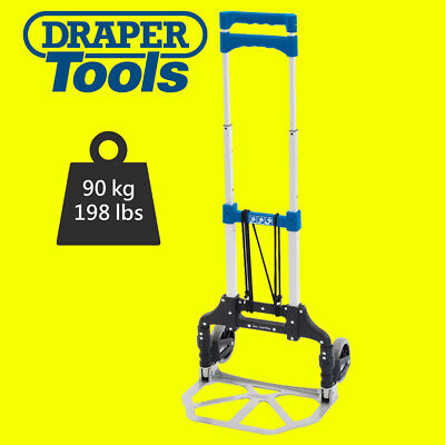 Draper 85633 Heavy Duty Extendable Foldable Fold Flat Sack Truck Hold Up To 90KG