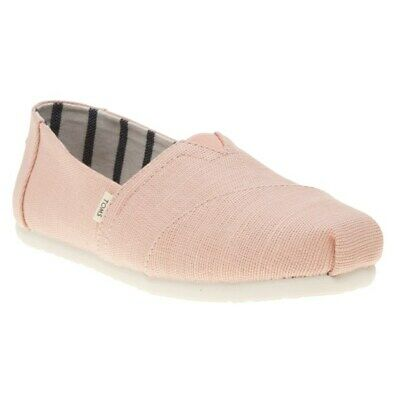 New Womens Toms Pink Classic Canvas Shoes Slip On