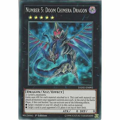 Number 5: Doom Chimera Dragon DANE-EN092 - Super Rare Card 1st Ed - Yu-Gi-Oh TCG