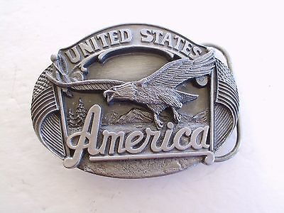 Belt Buckle United States Of America Vintage 3-D Made In Usa Leh