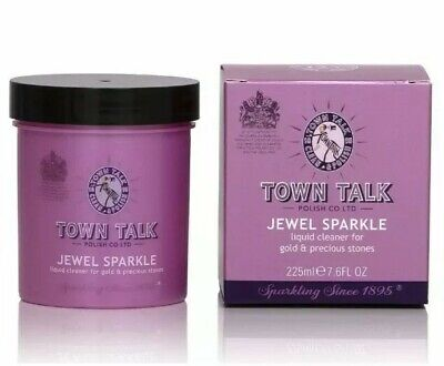 Gold jewellery cleaner dip by town talk 225ml jewel sparkle