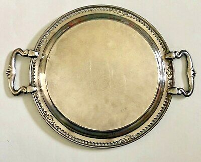 """Vintage,  Sheridan,  Silver on Copper Footed  Serving Tray  14"""" handled"""