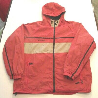 COLUMBIA SPORTSWEAR MEN'S EXTRA LARGE PACKABLE RED  HOODED JACKET (r)