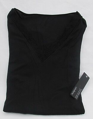 Ladies Marks & Spencer Autograph Black Silk Blend Luxury Thermal Body Size 16