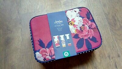Joules toiletry Bag And Toiletries body wash lotion scrub Gift Set