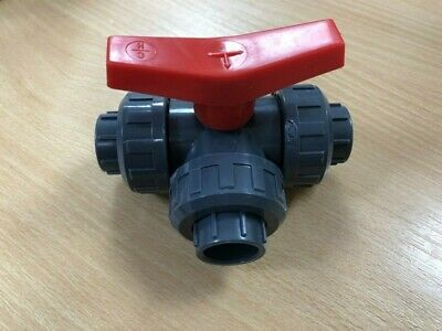 "32Mm 1"" 3 Way Solvent Weld Pvc Ball Valve"