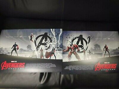 Marvel Avengers Endgame Design 1& 2 Complete Odeon Poster Set By Matt Ferguson