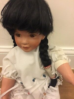 COLLECTORS PORCELAIN DOLL SNOWBIRD HAMILTON COLLECTION Ashton Drake