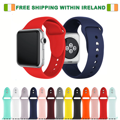 Apple Watch Replacement Silicone Sport Wrist Straps For 42/44Mm Series 1,2,3,4