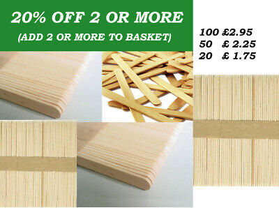 Natural Wooden Lolly Sticks Grade A ~ 114x10mm Ice Pops Lollipops Lollies Craft