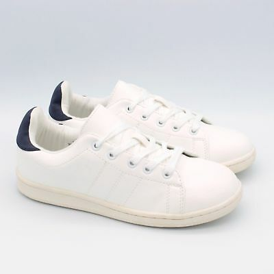 New M&S Girls Womens Ladies Canvas Trainers Top Casual Gym Lace Up Size Rrp £30