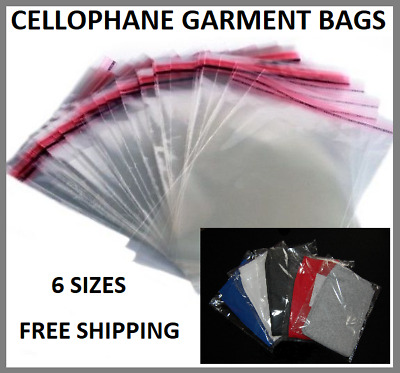 Clear Garment POLY Bags Foil Clothing Card Cover T-SHIRT Packing Self Seal