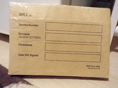 MOD Vintage Last Will and Testament Brown Envelopes Full Packet Sealed