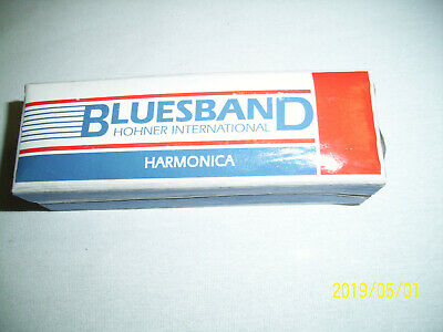 Hohner BluesBand Harmonica Key of C Blues Band Stainless Steel WITH BOX