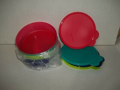 ***NEW*** Tupperware MICROWAVE REHEATABLE CEREAL BOWLS set of 4
