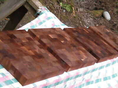 "Black Walnut End grain cutting board  Thick  12"" x 12"", Unfinished ,Solid"
