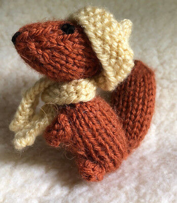 Hand Made Red Squirrel With Hat And Scarf New All Proceeds To Charity