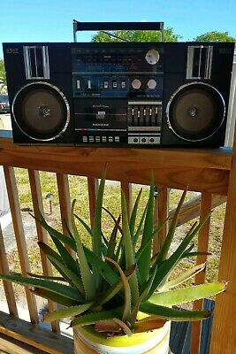 Vintage Magnasonic SC-828 Boombox Ghetto Blaster (100% WORKING New-Belts CLEAN)
