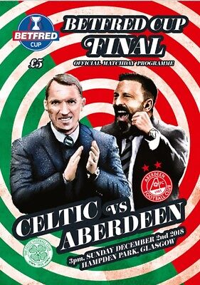 Aberdeen v Celtic 2018/19 Betfred Cup Final new football programme