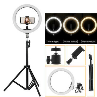 "10"" Studio LED 58W Ring Light +2M Reverse Stand Photo Video Selfie Makeup Beauty"