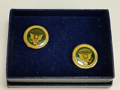 White House Presidential Seal United States Of America Cufflinks Original Box