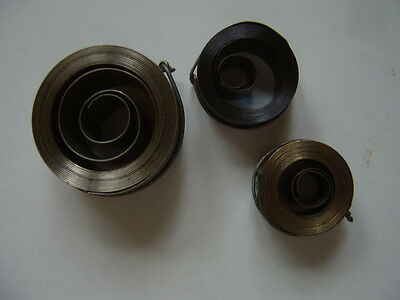 CLOCK ANTIQUE, NEW THREE MAIN SPRINGS 3 DIFFERENT SIZES come in pack of 3