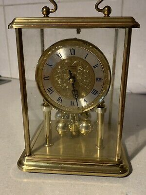 Vintage H.Samuel Carriage Clock Brass Glass Cased Case Side